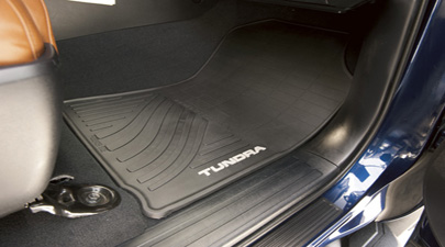 Tundra Logo All Weather Black Mats 4PC - 2012-2013