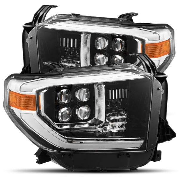 AlphaRex 14-20 Toyota Tundra NOVA-Series LED Projector Headlights Jet Black - Ships Free