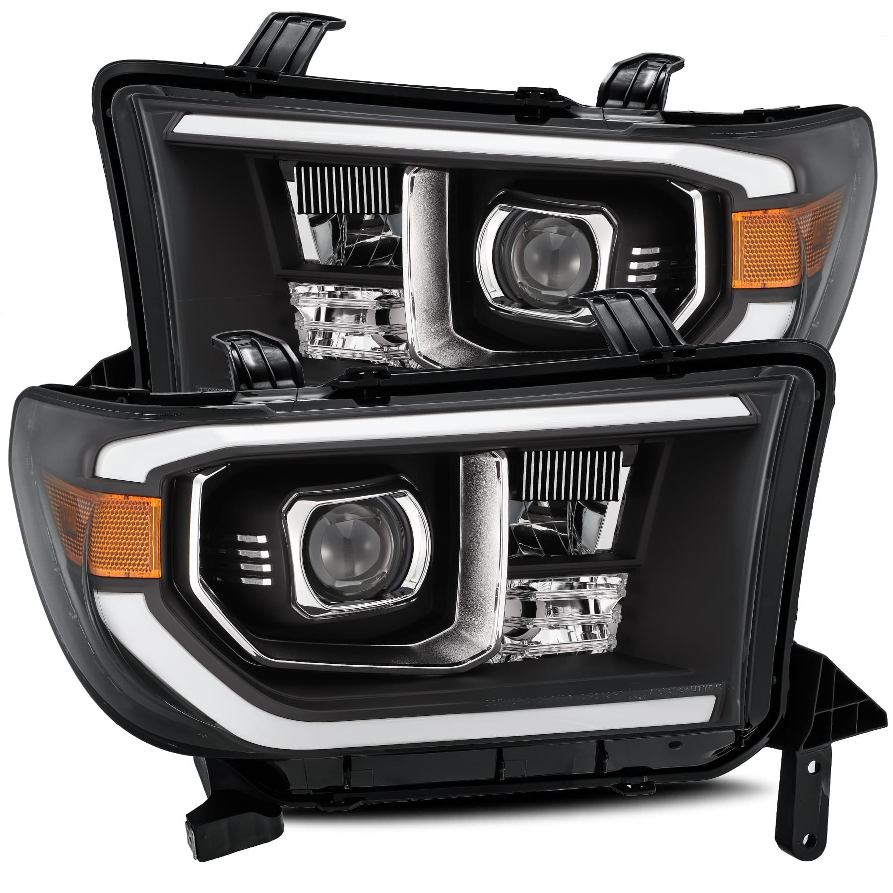 AlphaRex 07-13 Tundra PRO-Series Projector Headlights, w/Level Adjuster Black - Ships Free