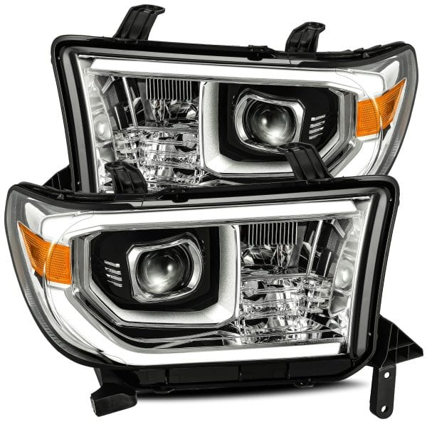 AlphaRex 07-13 Tundra PRO-Series Projector Headlights, NO level Adjuster, Chrome - Ships Free