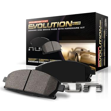 Power Stop Z17 Evolution Ceramic Front Brake Pads (Set of 4) w/Stainless Steel Hardware 2007+