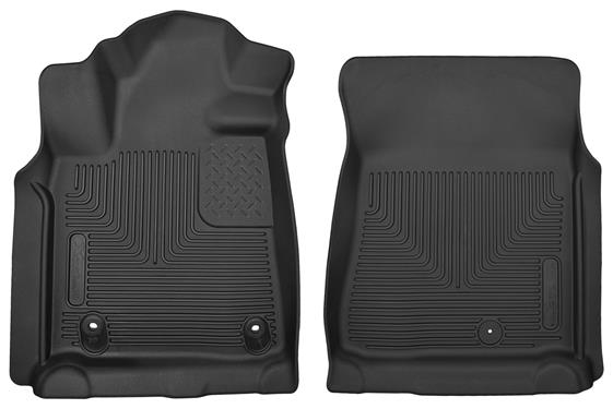 Husky Front Molded Fit Raised Channel Black Floor Liner (2 pc) 2012+