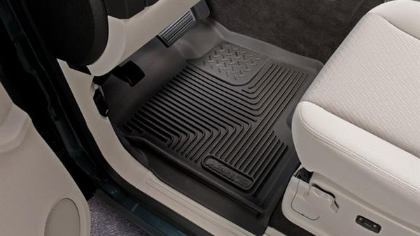 Husky X-act Contour Front Molded Fit Raised Channel Black Floor Liner (1 pc) 2012+