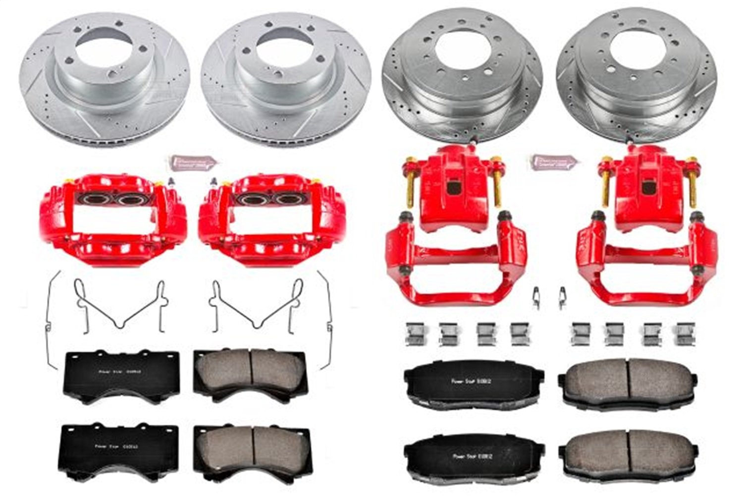 Power Stop Brake Kit (Ceramic Pads, Slotted Rotors) 2007-2015