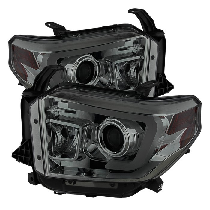 Spyder Auto Projector Headlights - Light Bar DRL - Smoke 2014-2017/2018+ SR & SR5
