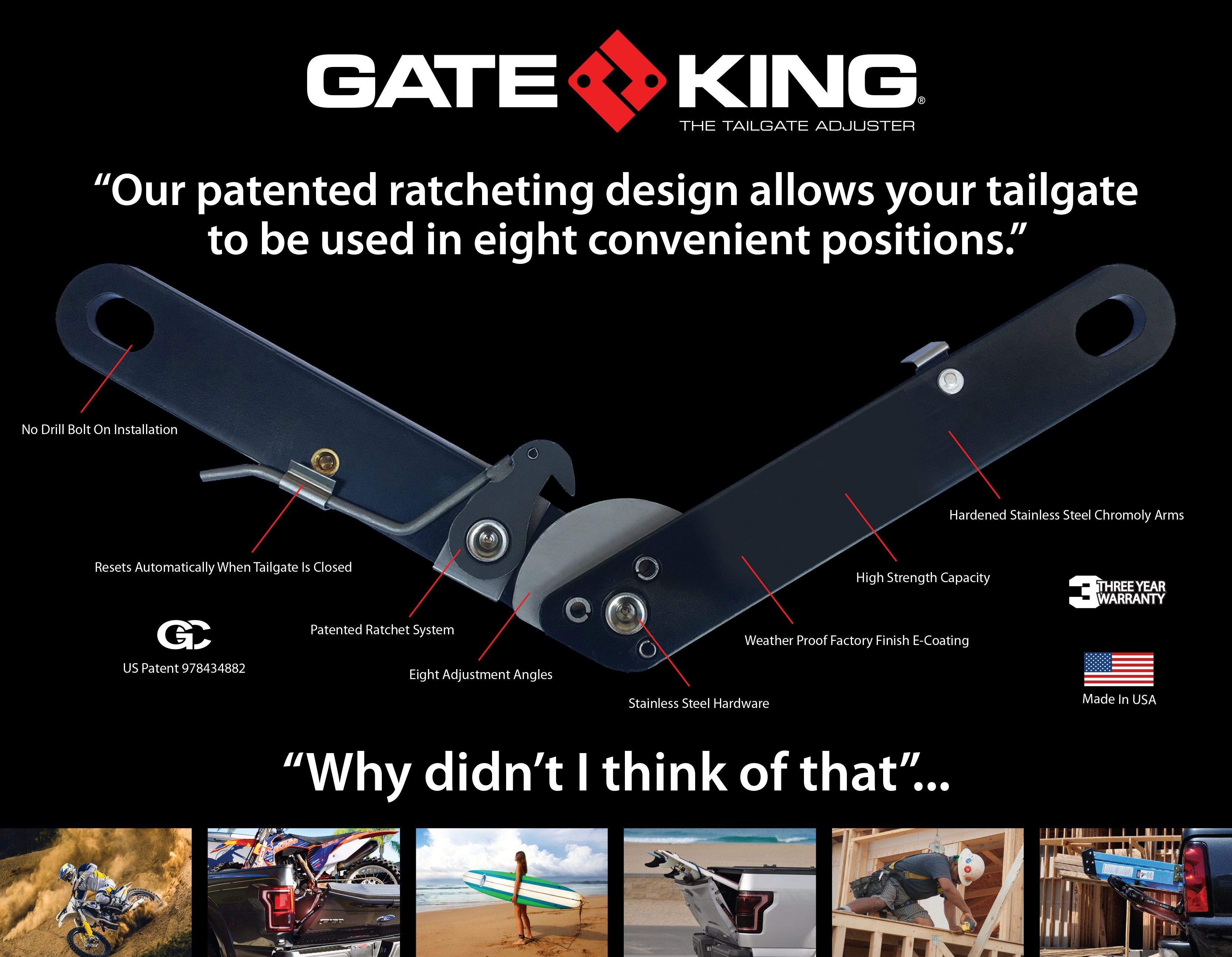 Gate King Tailgate Adjuster - 2010+