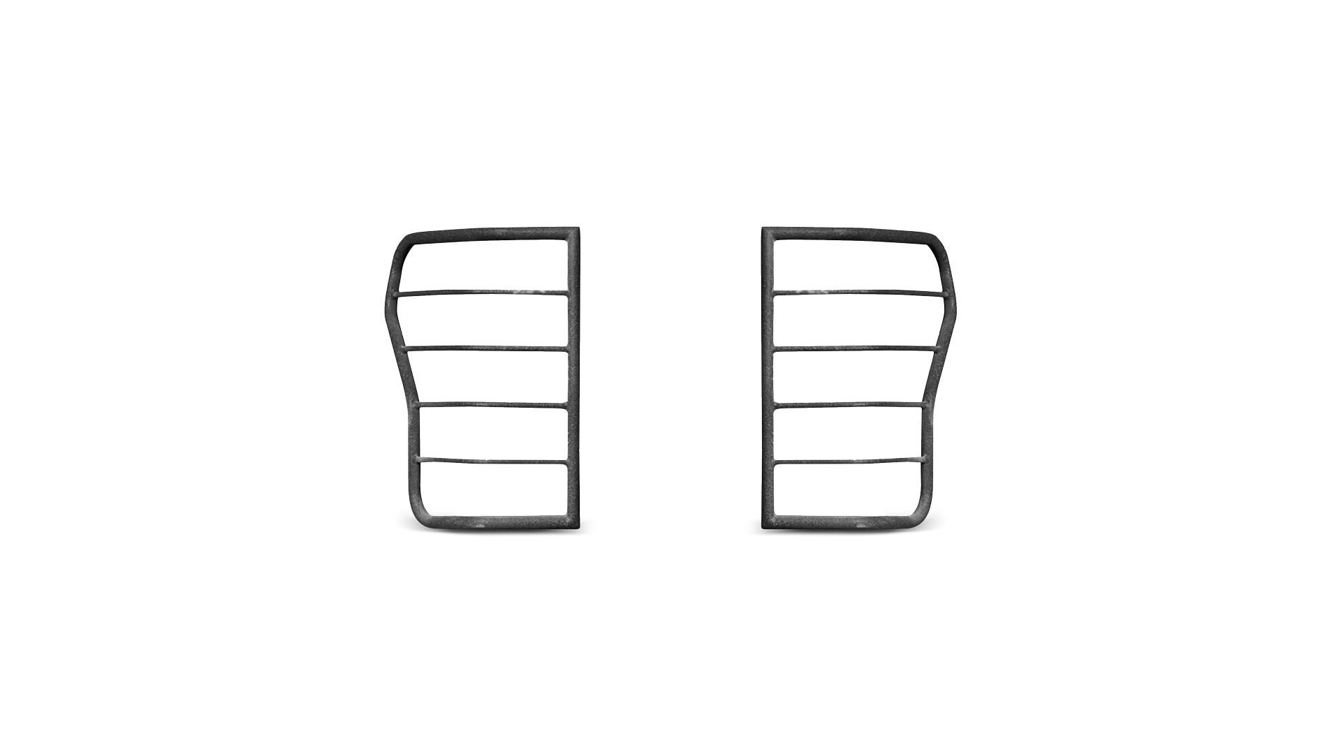 Body Armor Tundra Tail Light Guards; Powder Coated: Black Steel; Set of 2 2007-20011