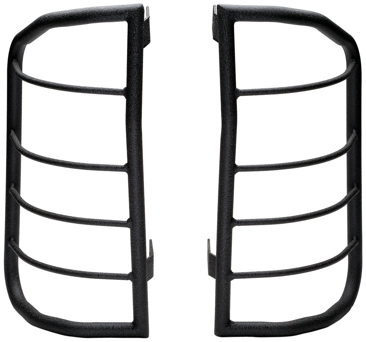 2004-2006 Toyota Tundra Tail Light Guard; Bar Style; Powder Coated; Black; Steel; Set of 2