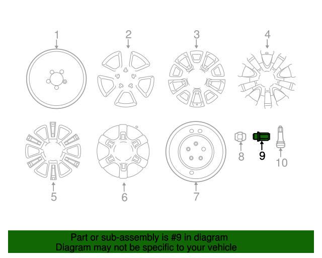 Toyota OEM 20in, 5-spoke Alloy Wheel 2014-2017