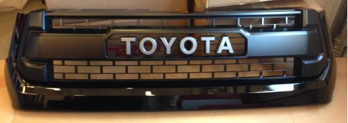 TRD Pro Tundra Radiator Grille - Black on Black, 2015