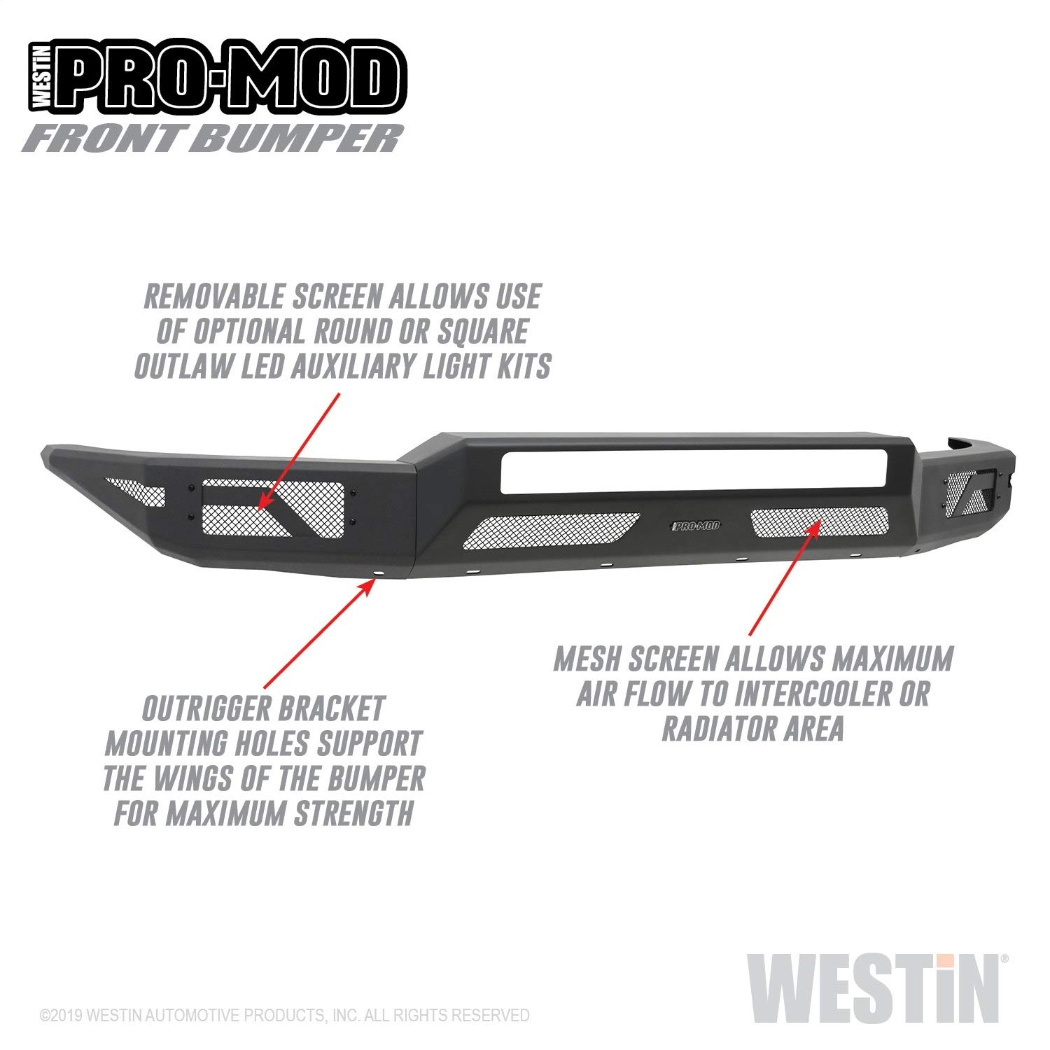 Westin Tundra Front Bumper Pro-Modular Design w/out Grille Guard - 2014+