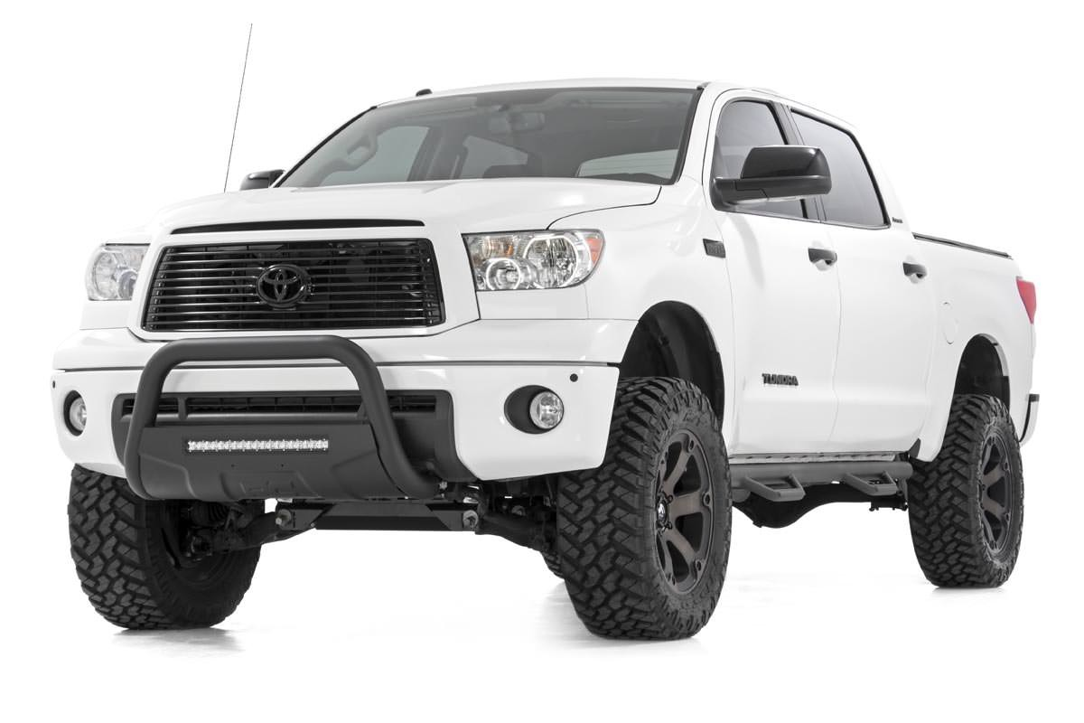 Rough Country Tundra Bull Bar w/LED Light Bar (Black) 2007+