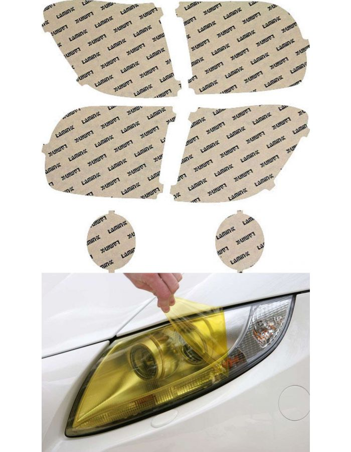 Lamin-X Yellow Headlight Covers; (03-06) Toyota Tundra