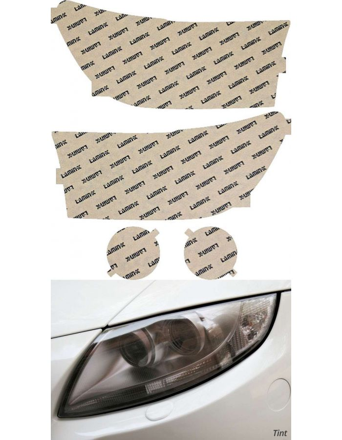 Lamin-X Tint Headlight Covers; (07-09) Toyota Tundra