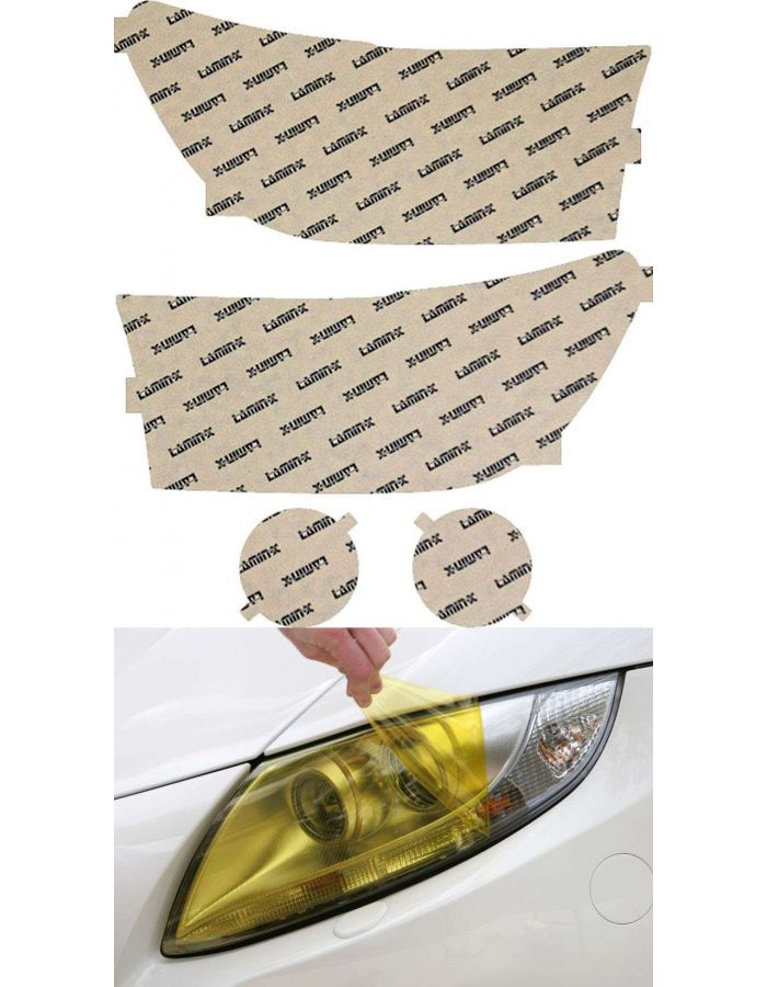 Lamin-X Yellow Headlight Covers; (07-09) Toyota Tundra
