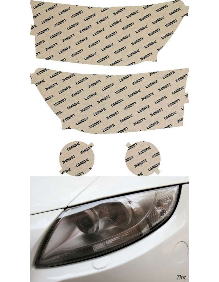 Lamin-X Tint Headlight Covers; (10-13) Toyota Tundra