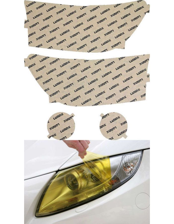 Lamin-X Yellow Headlight Covers; (10-13) Toyota Tundra
