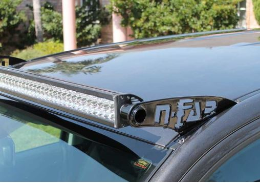 N-Fab Led Roof Top Light Bar Mounts 49 Series Light Bar (49in - 50 3/8in) - Gloss Black - 07+ - Ships Free
