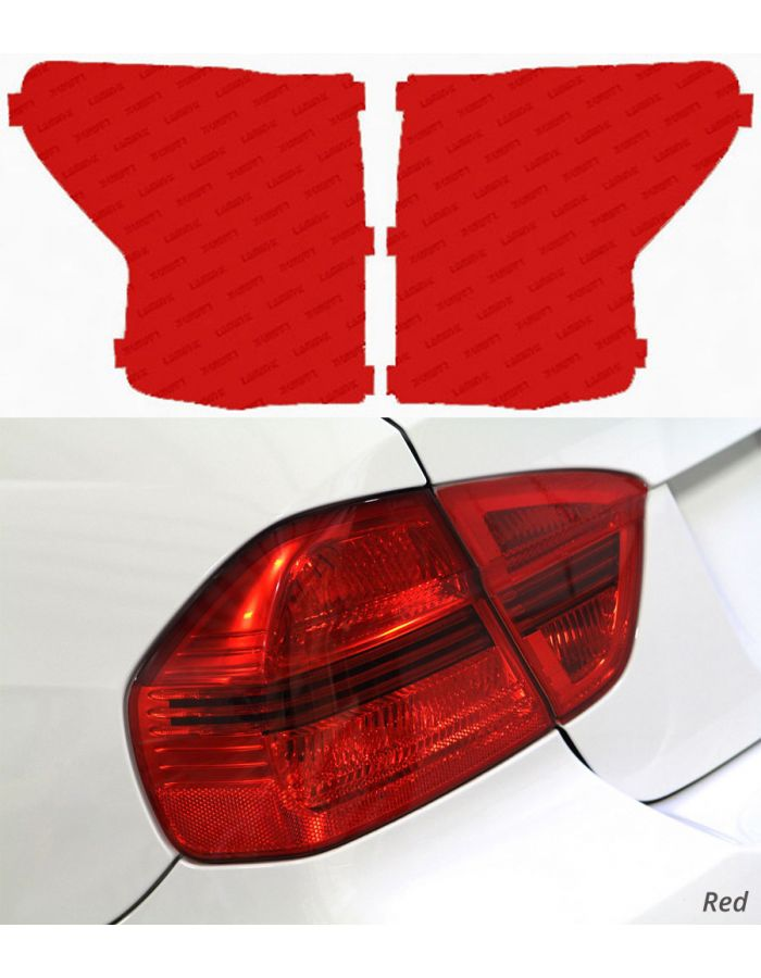 Lamin-X Red Tail Light Covers; (07-09) Toyota Tundra