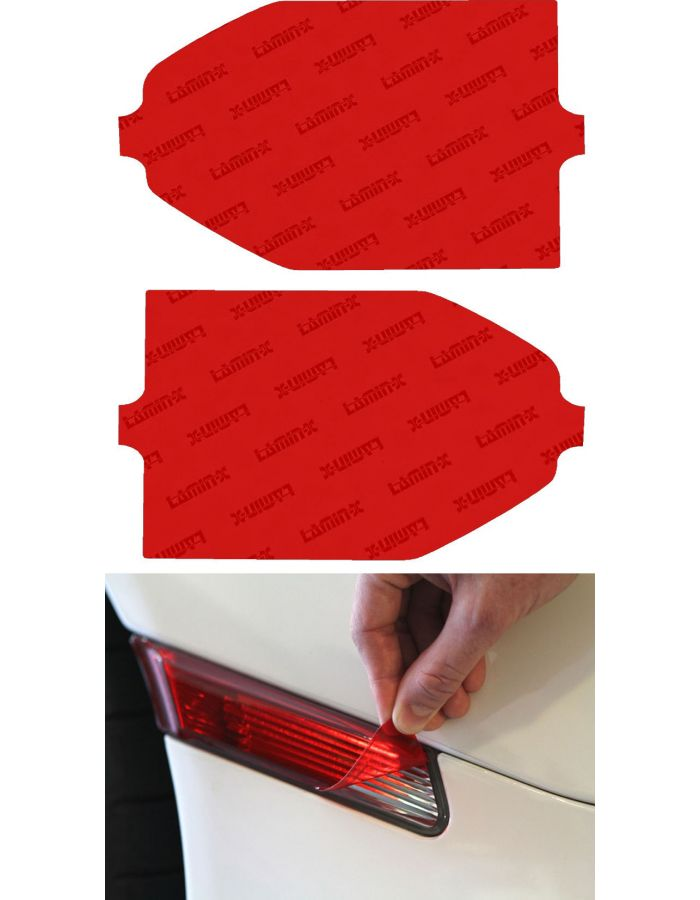 Lamin-X Red Reverse Light Covers; (2014+) Toyota Tundra
