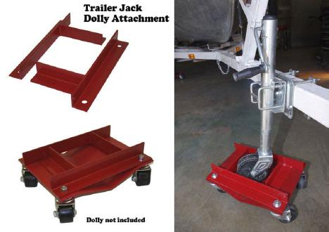 Auto Dolly Trailer Jack Attachment
