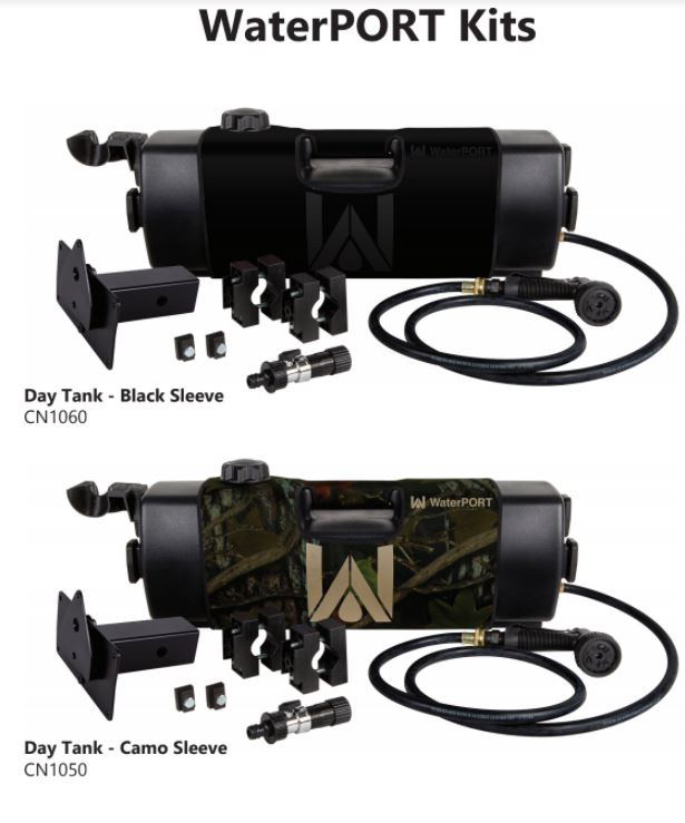 WaterPORT 4 Gallon Black Day Tank - 3 Mounting Options (IN STOCK DEC 2018)